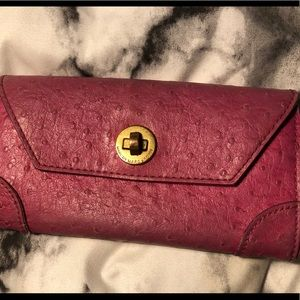Pink croc leather Marc Jacobs wallet